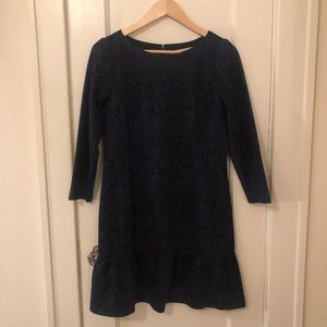 Blue and black dress size 4